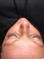 client after lashes